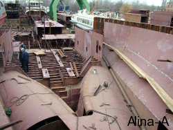 Building of a barge (Holland) 2